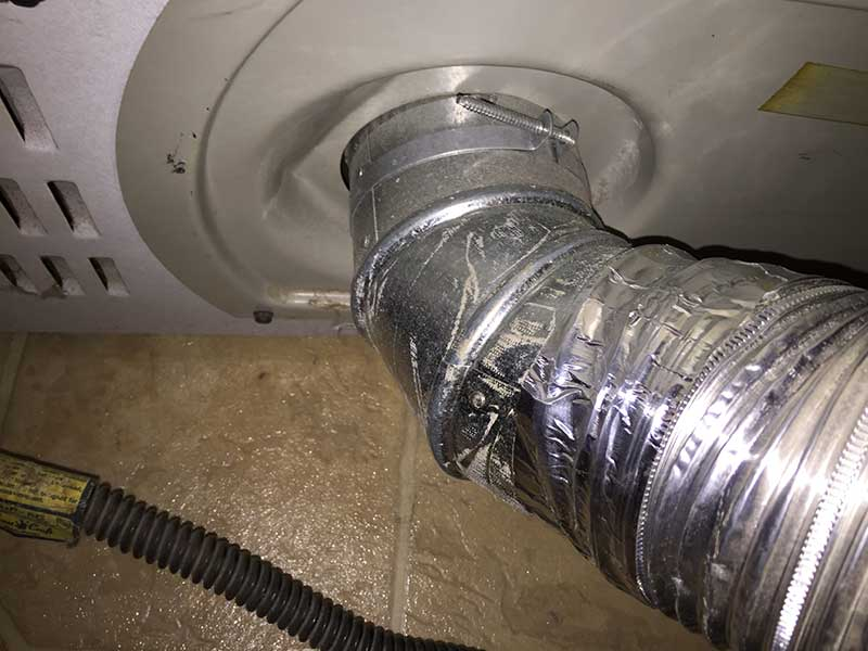 proper dryer vent connection after cleaning
