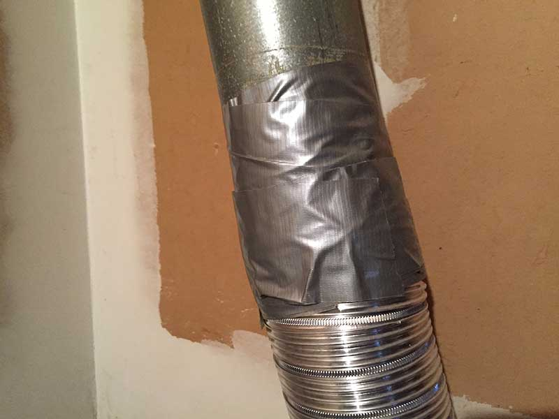 duct tape removal on vent