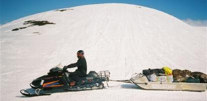 Man on most reliable sled in Alaska