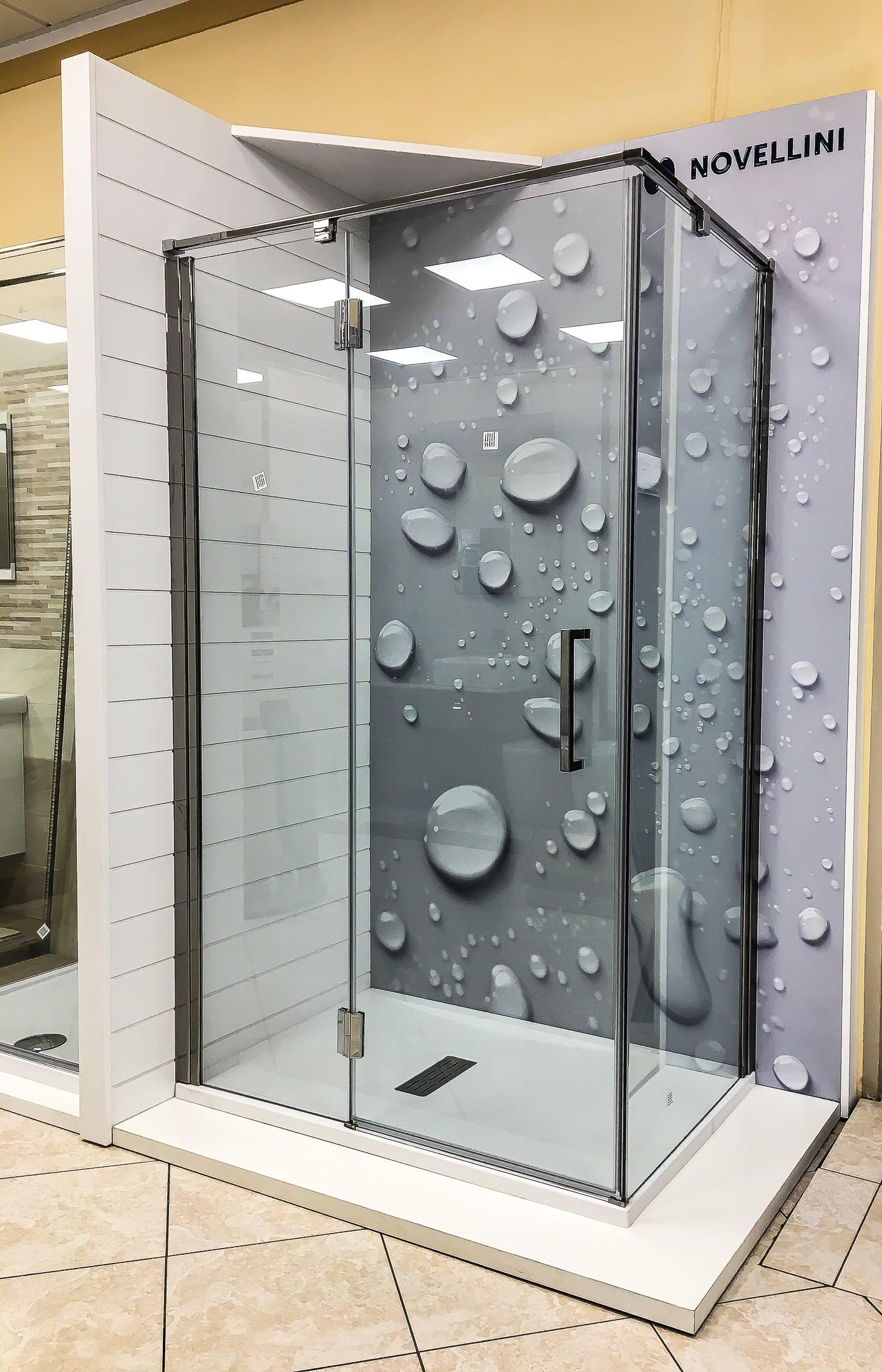 doccia con vetro