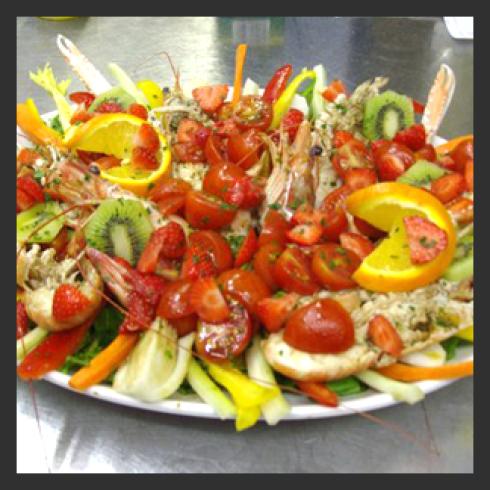 insalate crostacei, instalate fresce crostacei, antipasti freschi mare