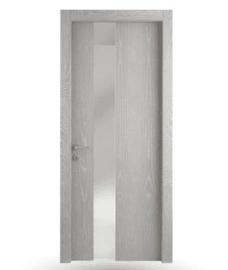 Porta interna Frassino Decapé Cenere con vetro
