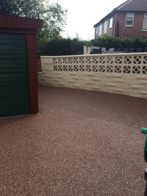 After patio laying