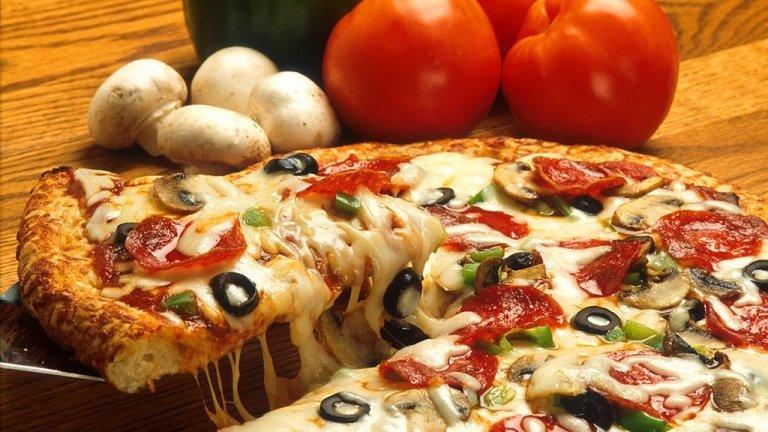 Пицца изготовлена из лучших ингредиентов