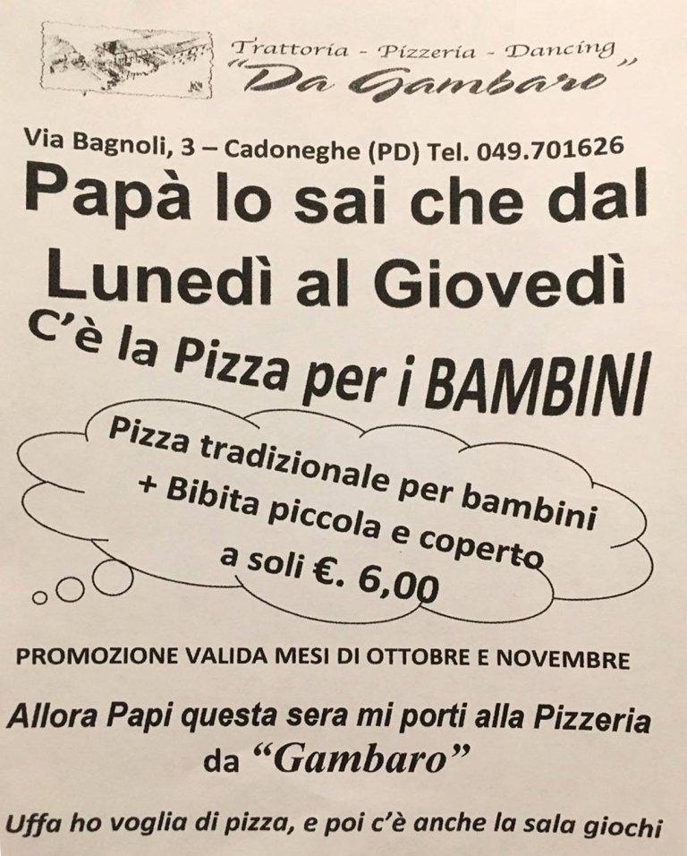 pizza per bambini