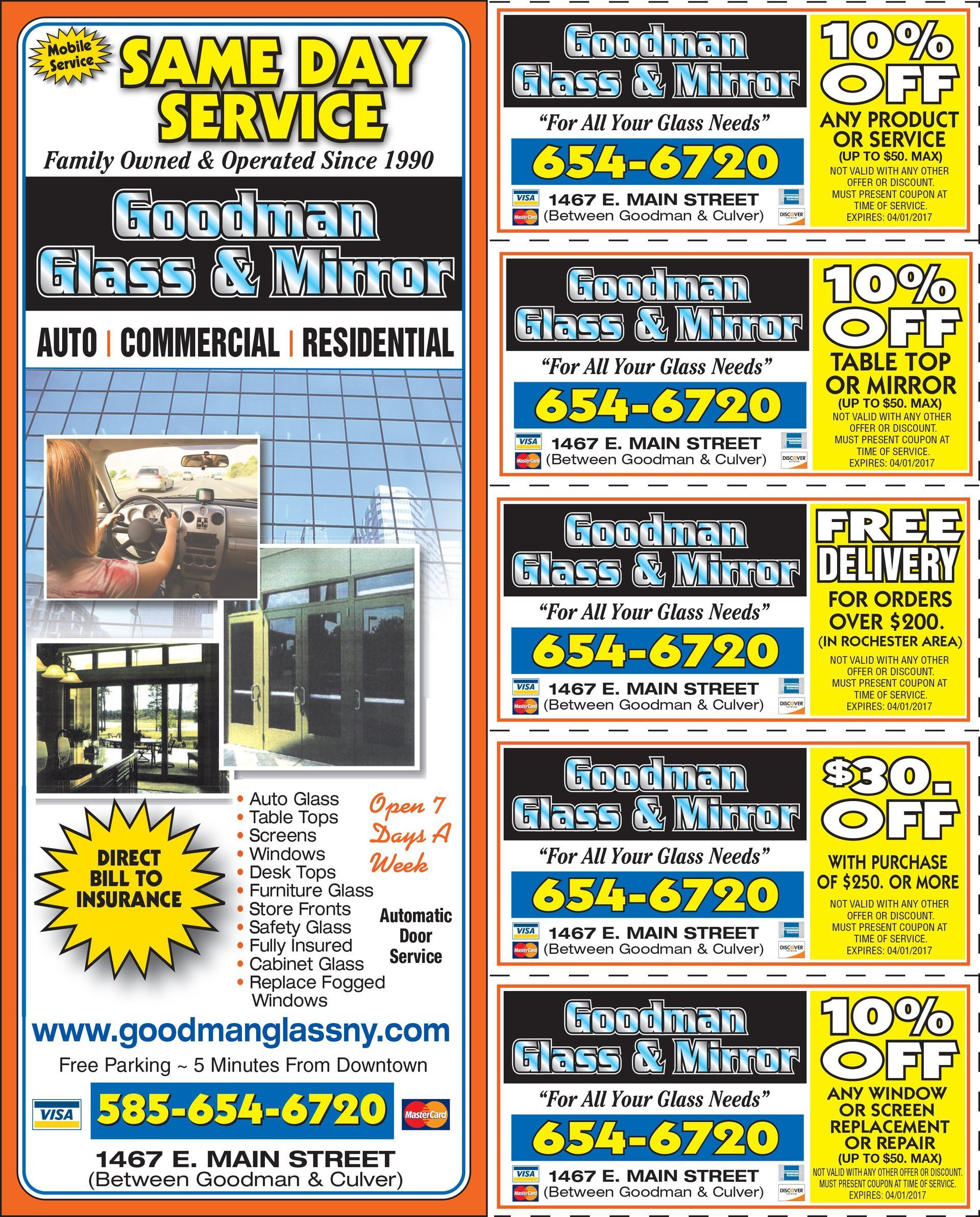 Goodman glass & mirror coupons