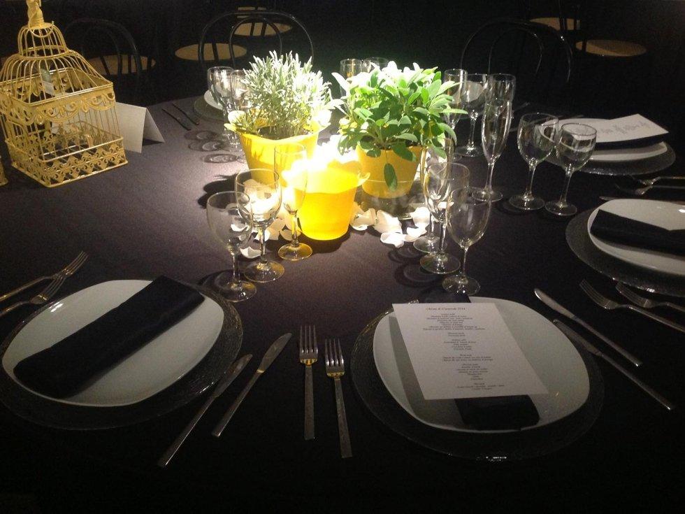 allestimento tavoli per eventi