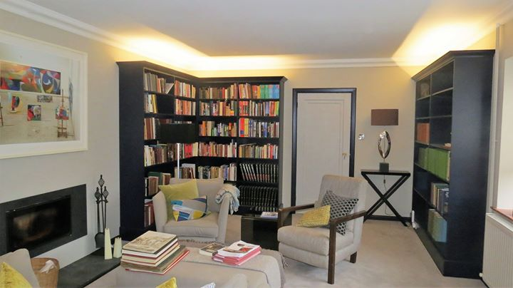 House Library painted in Farrow & Ball paints