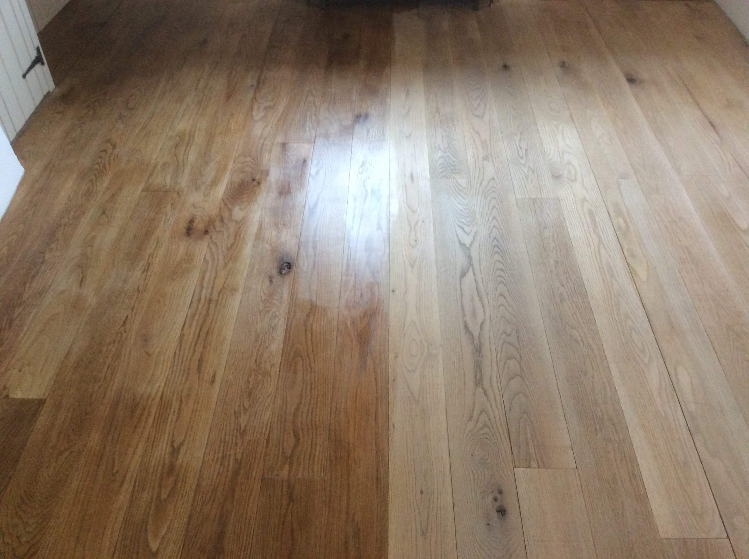 pine floor boards sanded and restored