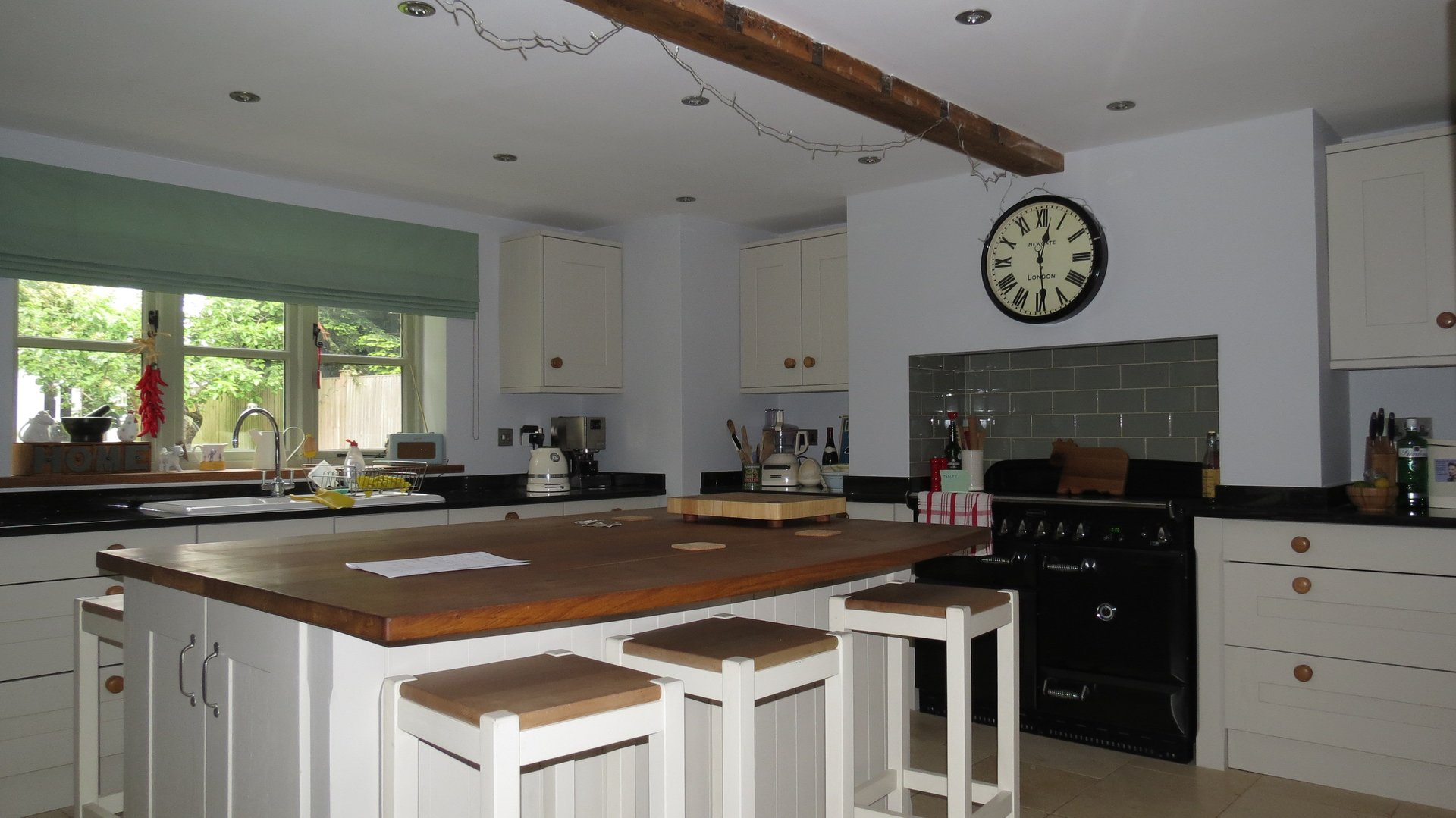 Kitchen decorated in farrow and ball colours