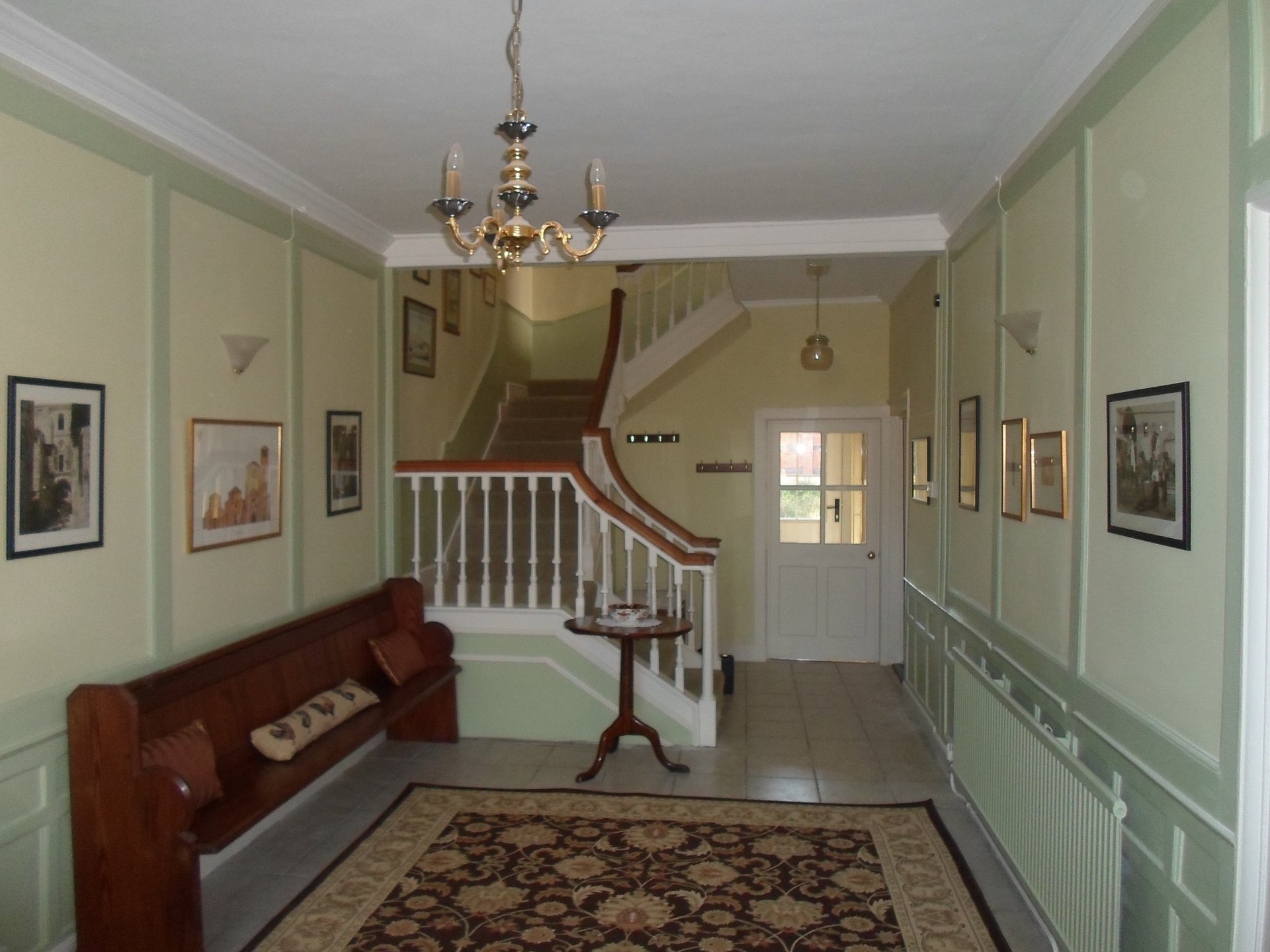 Georgian hallway completed in farrow and ball