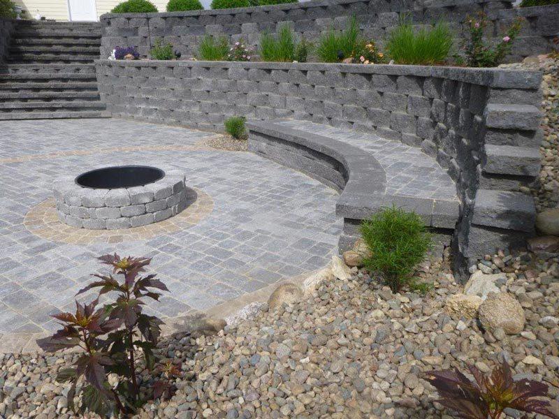 stone, fire, fire pit design