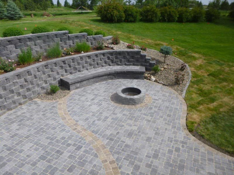 outdoor design, fire design, stone landscaping