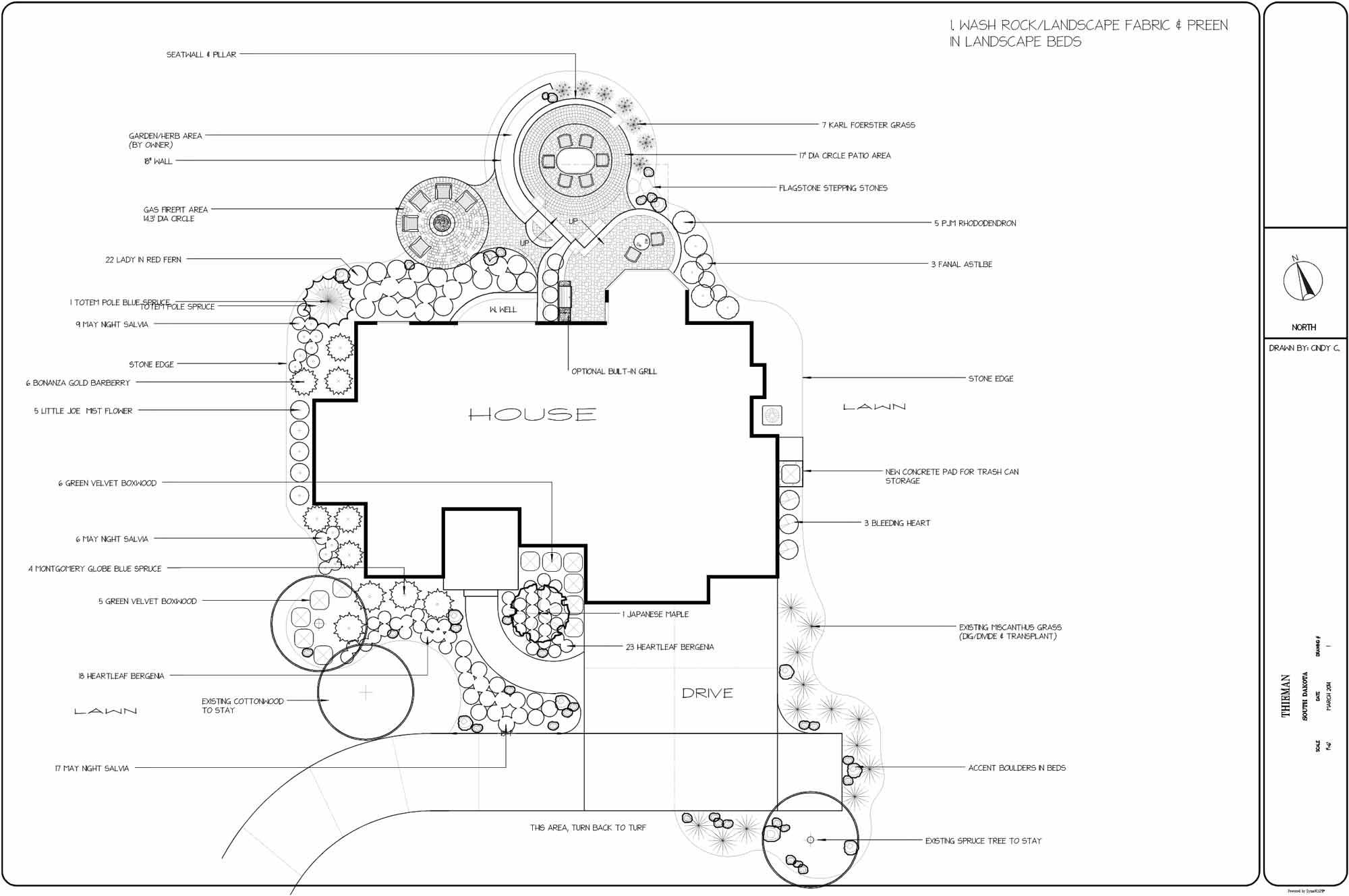 Design, landscaping, Nebraska