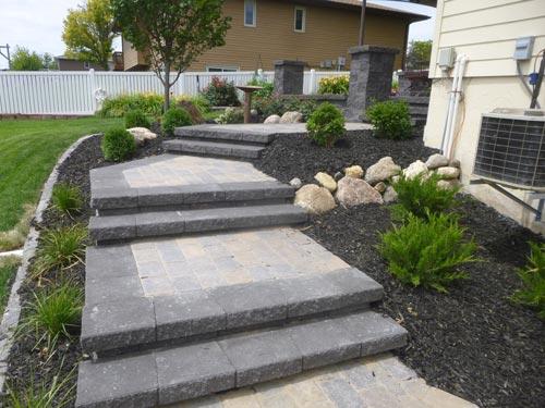 flat slab walkways, walkway landscaping