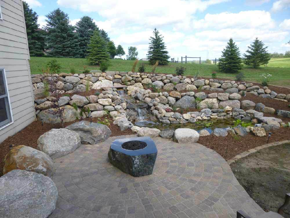 stone wall firepit