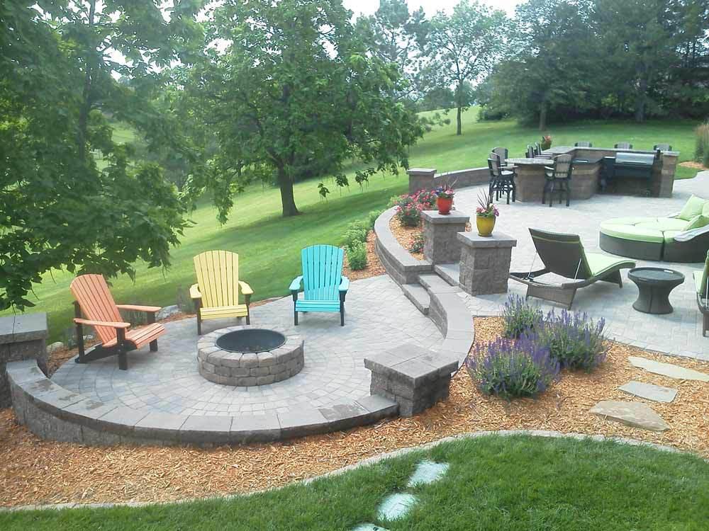 redesigned patio