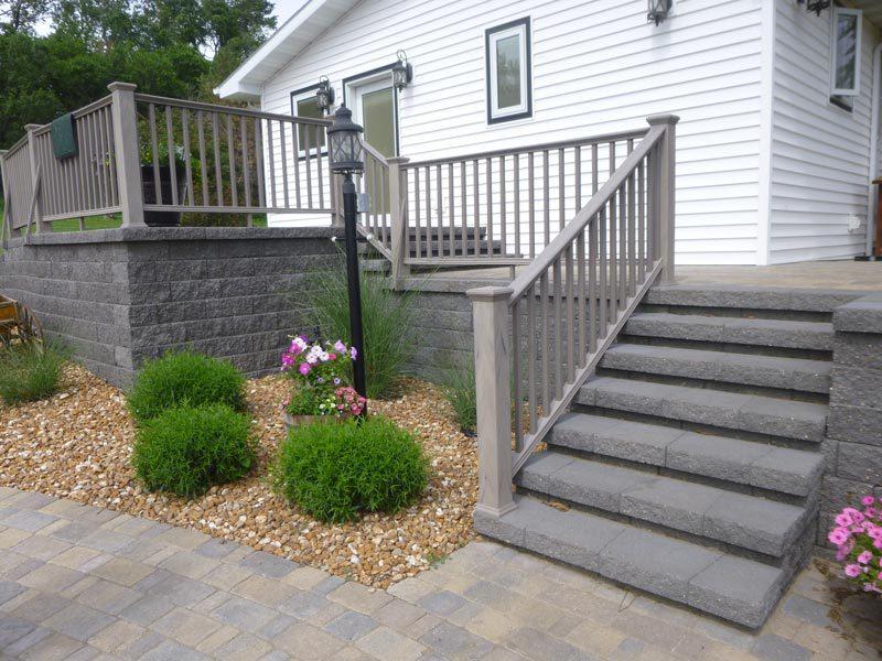 brick path stairs