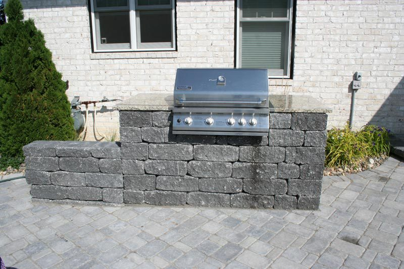 built in grill