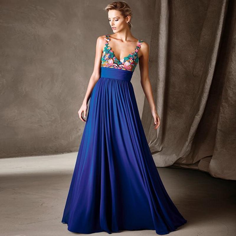 abito da donna blu