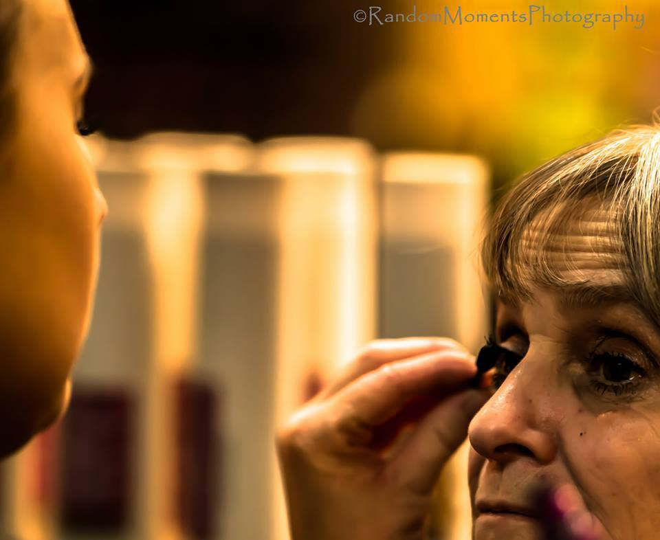 Woman having make-up applied at our spa in Batavia, NY