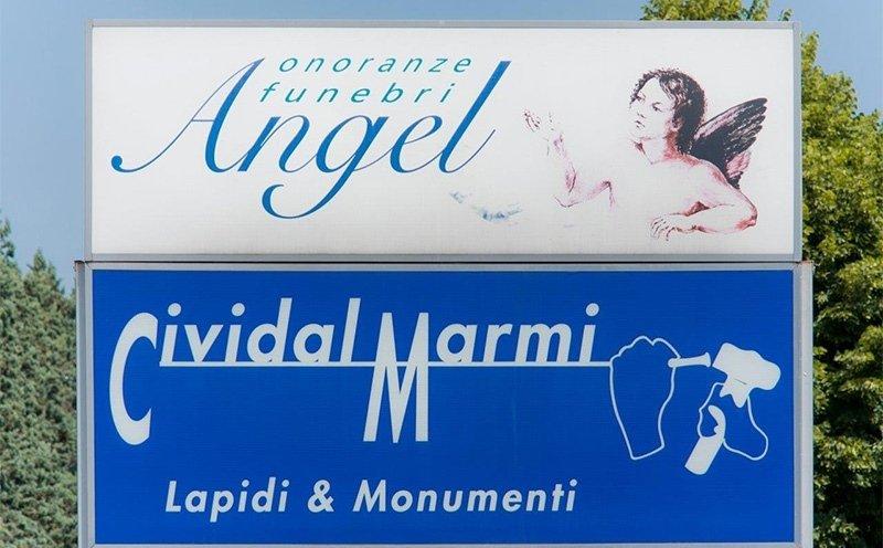 insegne angel e civital marmi