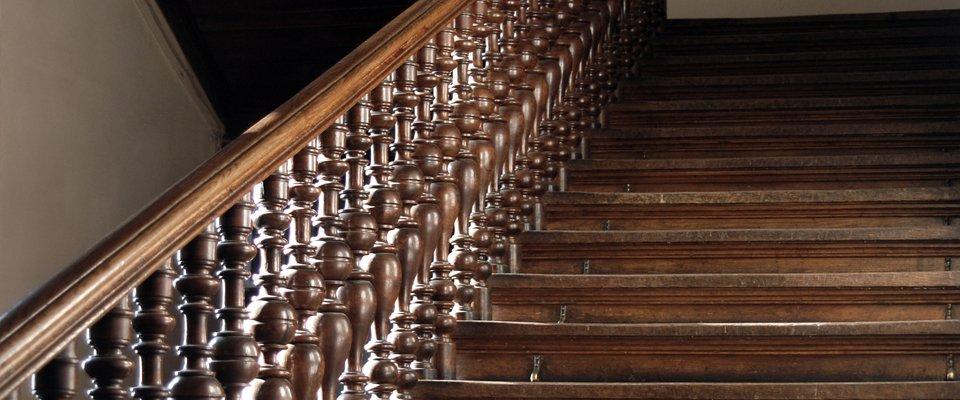 Elegant wooden staircases