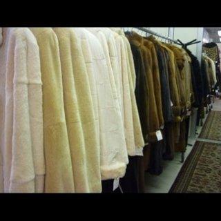 Capi in pelliccia in esposizione