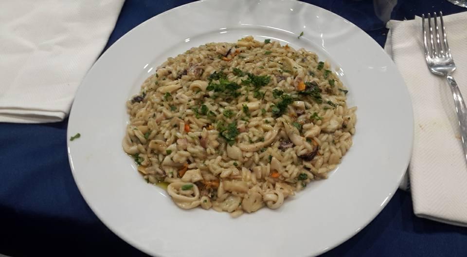 piatto risotto con pesce