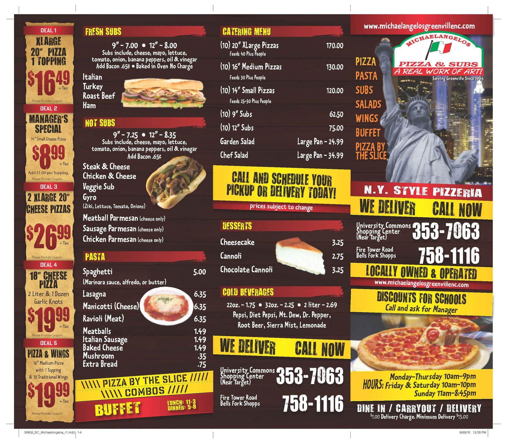 Pizza Specials Greenville, NC