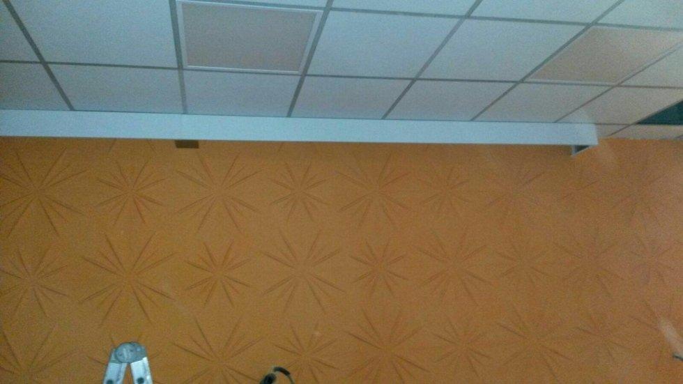 Pannelli decorativi più controsoffitto in fibra