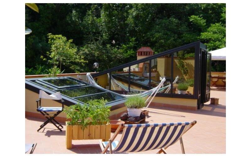 serra solare in alluminio