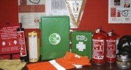 articoli di sicurezza, segnaletica, attrezzature antincendio