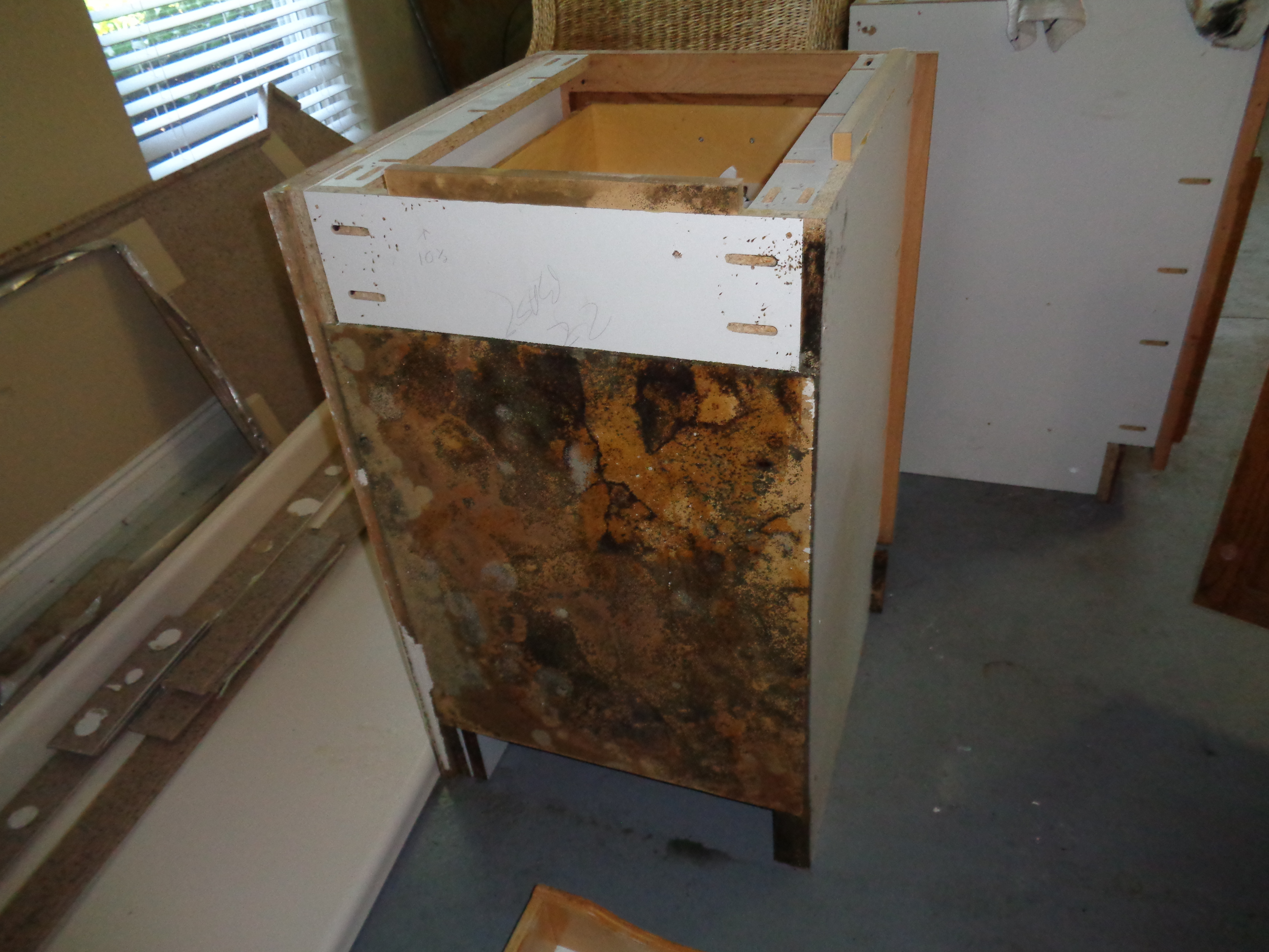 Wooden rack for mold inspections testing and remediation in Gulf Shores, AL