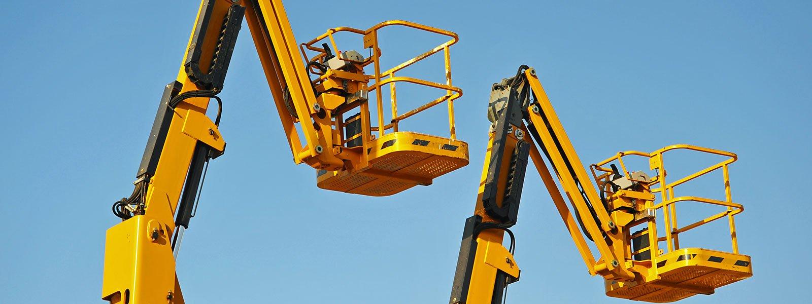 Escavatore a punto di avviare il lavoro