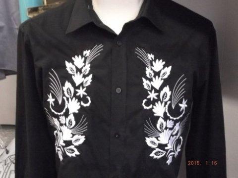 camicia ricamata