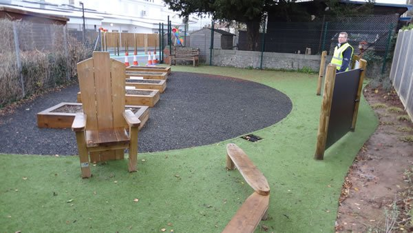 rubber mulch play area