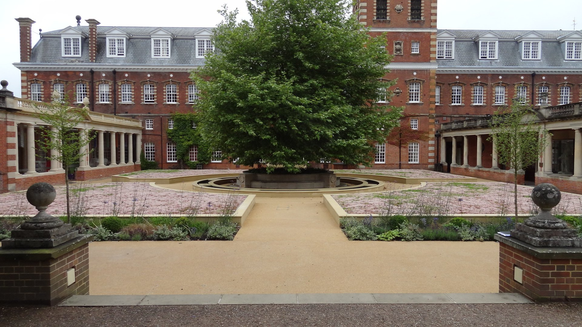 resin bound walkway in formal garden setting