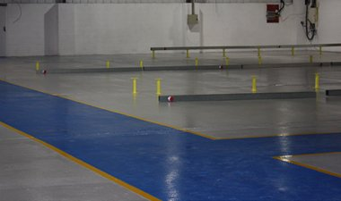 non slip epoxy sports court
