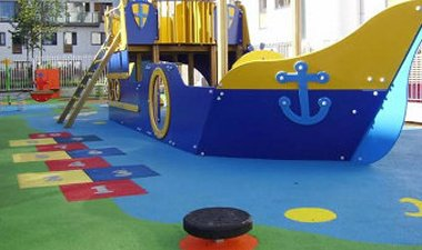 pirate ship on rubber playground