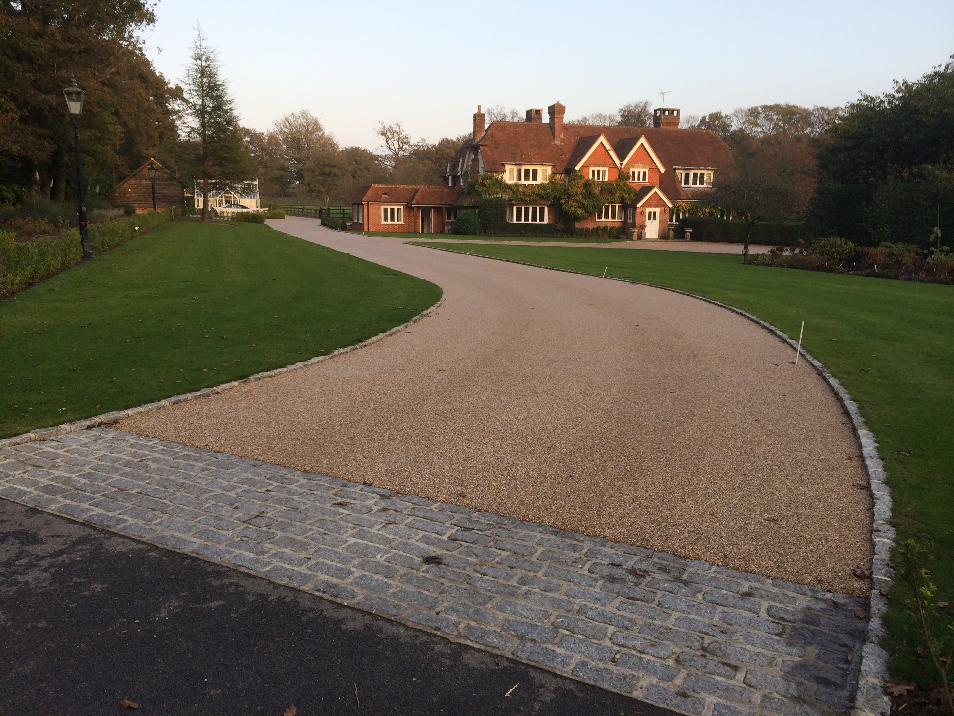 non slip resin bonded approach to large private house
