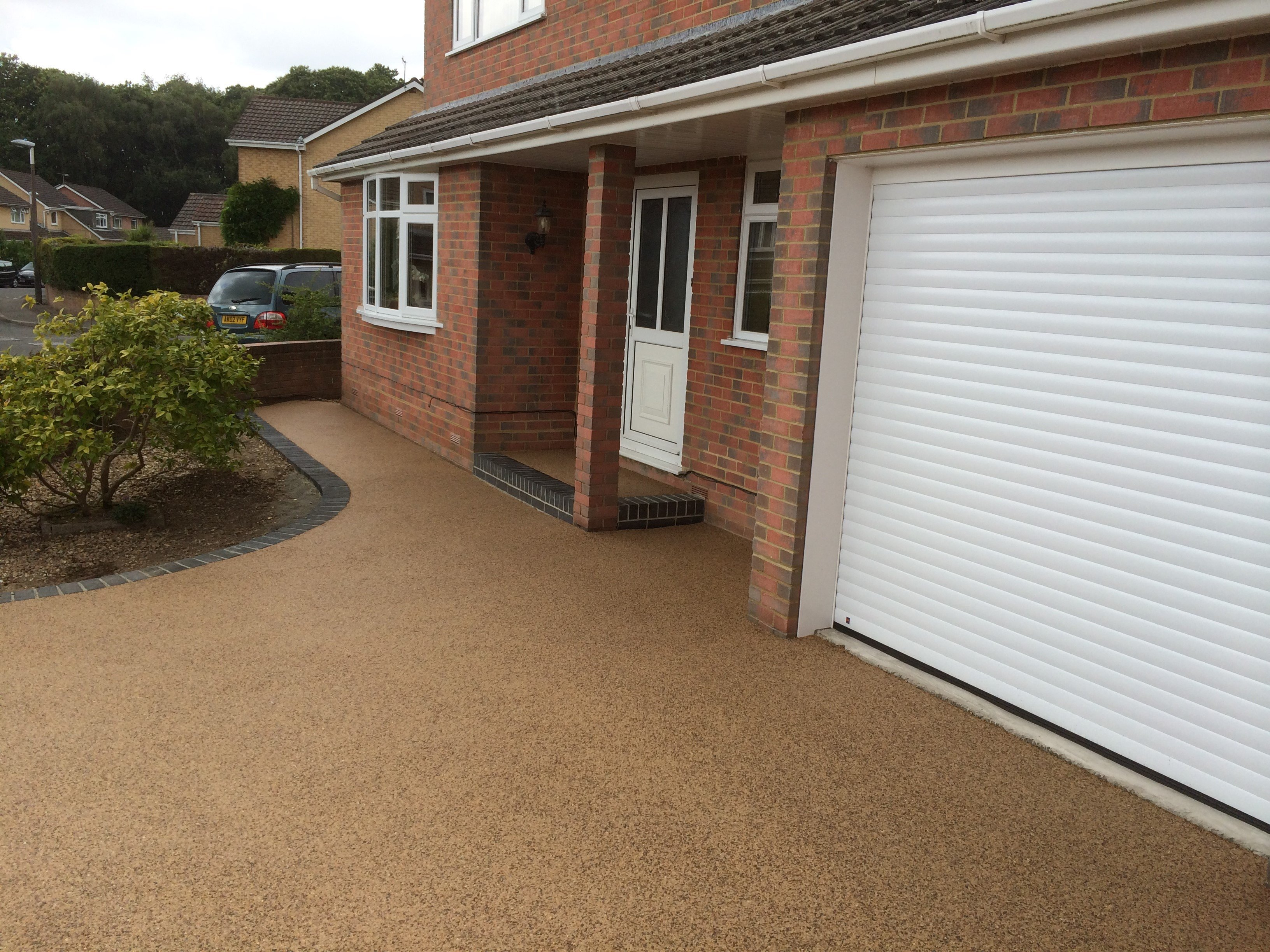 resin bonded stone footpath