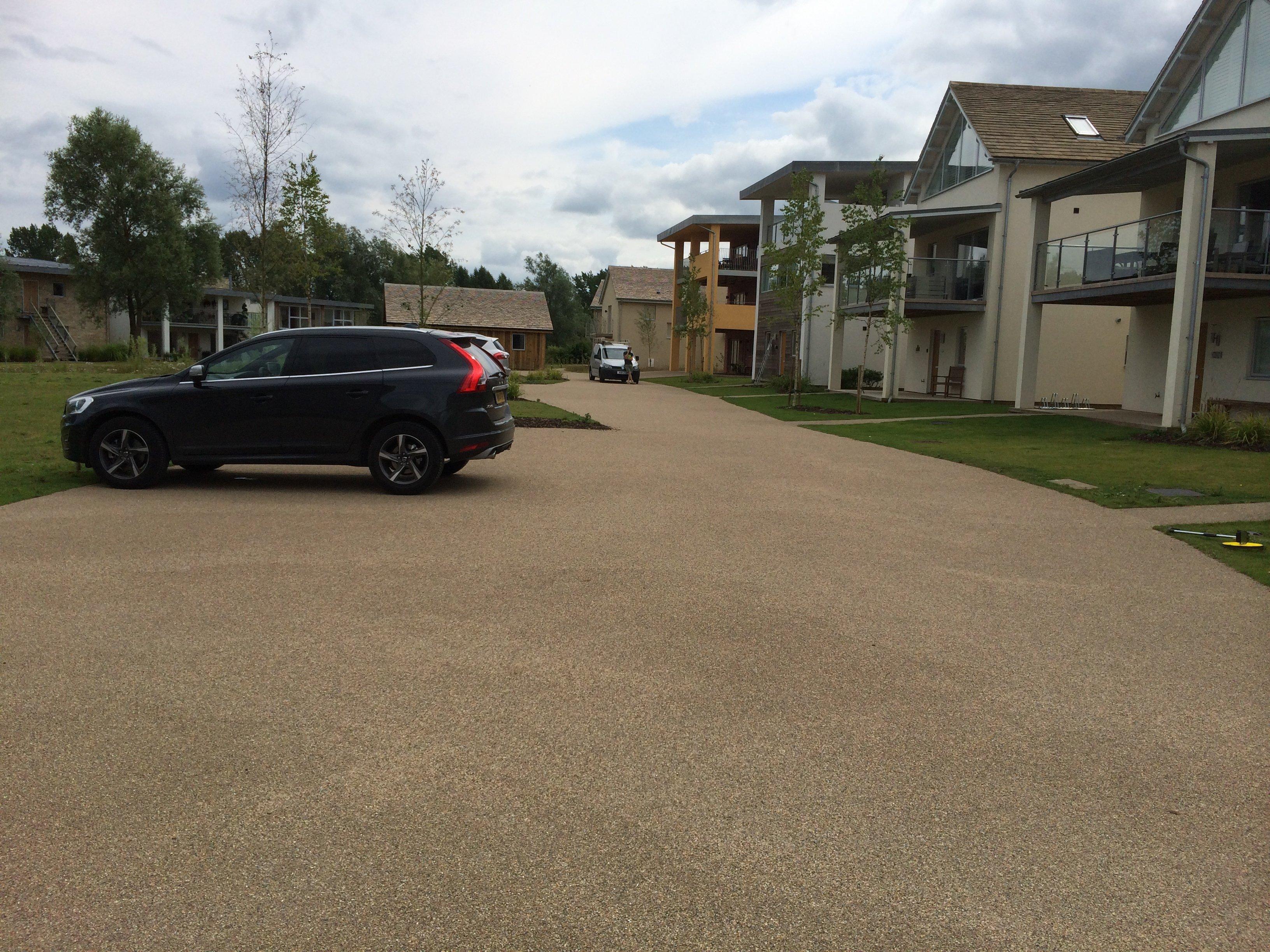 resin bonded car park surface