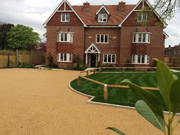 large resin bound private driveway