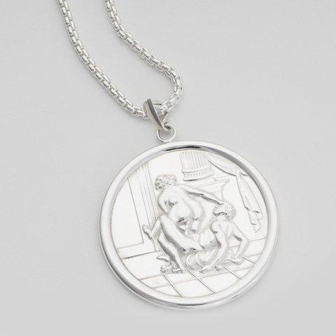 Juliette  framed silver pendant erotic jewellery