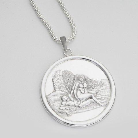 Angelique framed silver pendant erotic jewellery