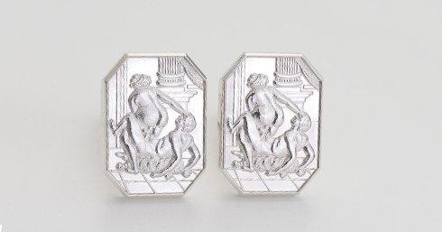 Silver Cufflinks erotic jewellery