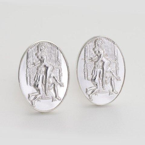 Donatien Sterling Silver Cufflinks erotic jewellery