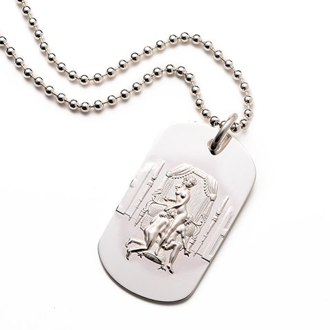 Donatien Sterling Silver Dog Tag erotic jewellery