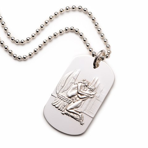 Alphonse Sterling Silver Dog Tag erotic jewellery